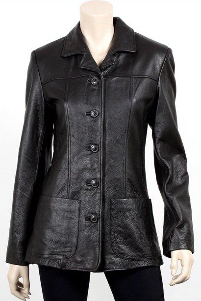 Women Antique Button Front Blazer