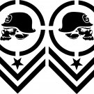 Metal Mulisha Chevron vinyl decal sticker set of 2!