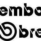 "BREMBO VINYL DECAL STICKERS 2 @ 7.85"" WIDE EACH!"