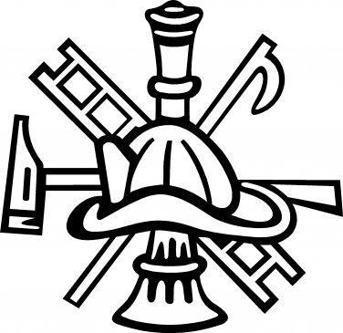 fire depatment maltese cross vinyl decal sticker