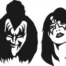 "kiss band vinyl decal sticker 7.85"" wide!!"