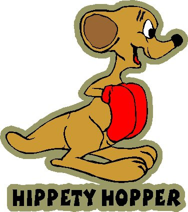 looney tune hippety hopper full color vinyl decal sticker