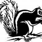 SQUIRREL HOLDING NUT VINYL DECAL STICKER
