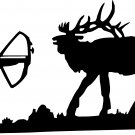 ELK BOW HUNTER VINYL DECAL STICKER