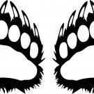 BEAR CLAW VINYL DECAL STICKERS...PRICE IS FOR 2