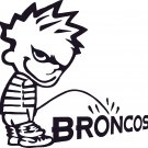 pee on piss on denver broncos vinyl decal sticker