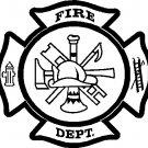 "fire department maltese cross vinyl decal sticker 9.19"" wide!!"
