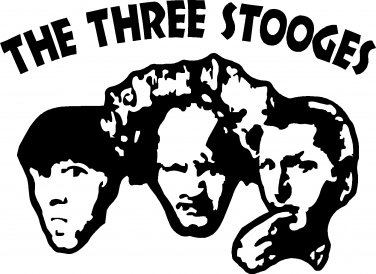 3 THREE STOOGES VINYL DECAL STICKER