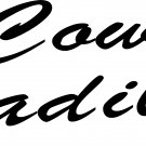 "COWBOY CADILLAC VINYL DECAL STICKER 7.85"" WIDE!!"