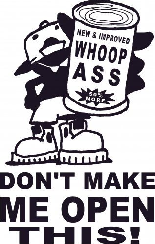 WHOOP ASS VINYL DECAL STICKER