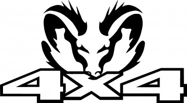 dodge ram 4 x 4 vinyl decal sticker