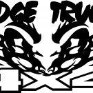 DODGE TRUCKS CUMMINS 4 X 4 OFF ROAD VINYL DECAL STICKER