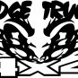 DODGE TRUCKS CUMMINS 4 X 4 OFF ROAD VINYL DECAL STICKER
