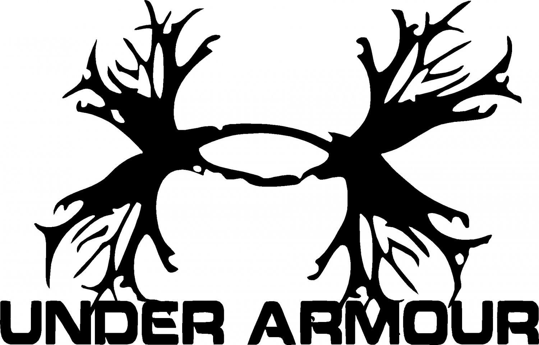 under armour antler vinyl decal sticker 6 quot  wide Deer Hunting Logos Deer Skull Logo