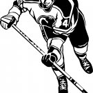 HOCKEY PLAYER VINYL DECAL STICKER