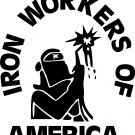 IRON WORKERS VINYL DECAL STICKER