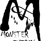 "monster penis sexual staying power vinyl decal sticker almost 8"" tall!"