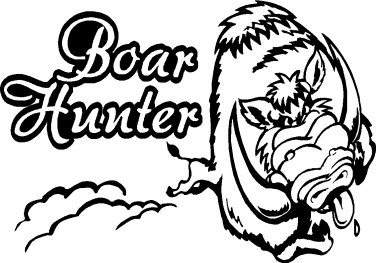 "boar hog pig hunter hunting vinyl decal sticker 7"" wide!"