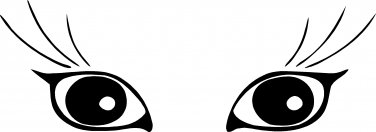 "cat kitten kitty eyes vinyl decal sticker 7"" wide!"