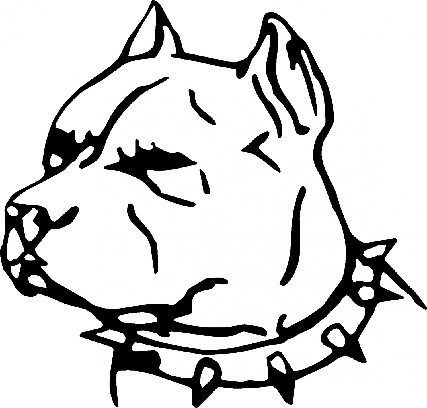 Gallery For gt Drawings Of Pit Bulls Heads