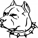 PIT BULL HEAD VINYL DECAL STICKERS...PRICE IS FOR 2