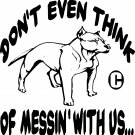 PIT BULL WATCHDOG LOVE MASTER GUARD PROTECTION VINYL DECAL