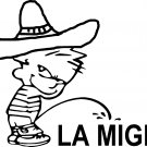 pee on piss on la migra border patrol vinyl decal sticker