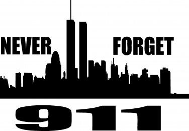 "fireman firefighter 911 never forget vinyl decal sticker 8"" wide!!"