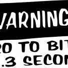 "zero to bitch in 2.3 seconds vinyl decal sticker 7"" wide!!"