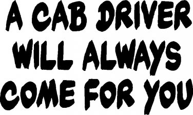 cab driver limo taxi taxicab vinyl decal sticker