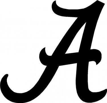 alabama university of crimson tide A vinyl decal sticker