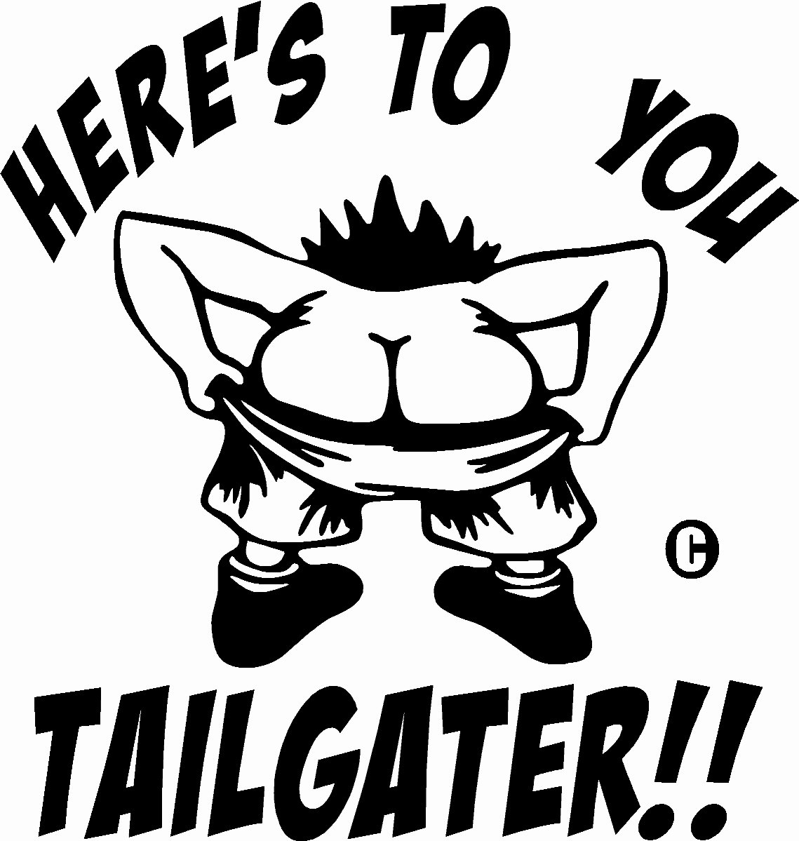 Tailgating tailgater funny vinyl decal sticker