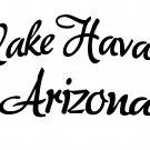 "lake havasu city arizona vinyl decal sticker 8.75"" wide!"