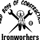 native american indian feathers ironworkers vinyl decal sticker