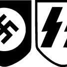 NAZI SWASTIKA SS VINYL DECAL STICKER SET