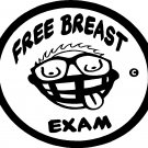 free breast exam vinyl decal sticker