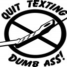 texting while driving safety vinyl decal sticker