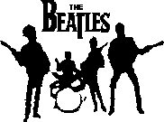"the beatles band vinyl decal sticker 7"" wide!"
