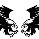 EAGLE LANDING AMERICAN SET OF 2 VINYL DECAL STICKERS FLIPPED