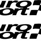 "euro sport set of 2-8.5"" wide vinyl decals stickers"