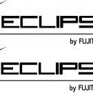 "eclipse stereo by fujitsu ten vinyl decal  sticker 8.5"" wide set of 2"