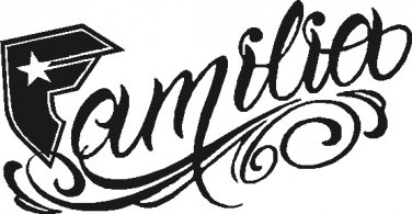 FAMOUS STARS AND STRAPS FAMILIA VINYL STICKER DECAL