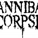 "CANNIBAL CORPSE LOGO VINYL DECAL STICKER 8"" WIDE!"