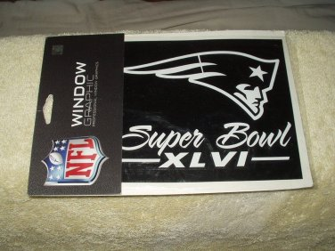 super bowl 46 XLVI new england patriots collectible decal sticker nfl licensed