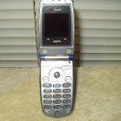 sprint flip phone sanyo vi-2300 dark blue & silver 3g