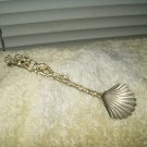 firenze clam shell spoon lion vintage silver gold colored only