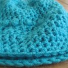 Crochet Teal Slouch Hat