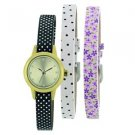Portobello Road Ladies Watch floral design 3 straps INTERCHANGEABLE BOXED