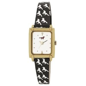 Portobello Road Ladies Watch HORSE design gift BOXED black animal strap