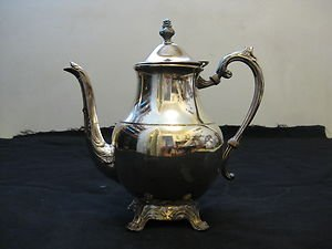 ANTIQUE SILVER PLATED  COFFEE TEA  POT F.B. ROGERS